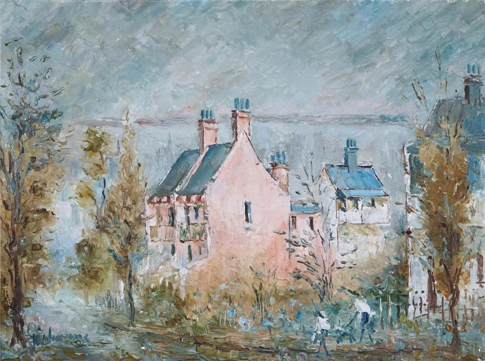 Wilmotte Williams (1916 - 1992) - Old Houses 44.5 x 60cm
