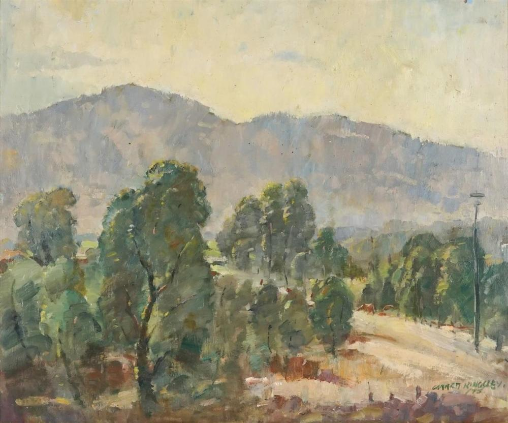 Garrett Kingsley (1915 - 1982) - Peaceful Scene at Springwood, 1975 49.5 x 59.5cm