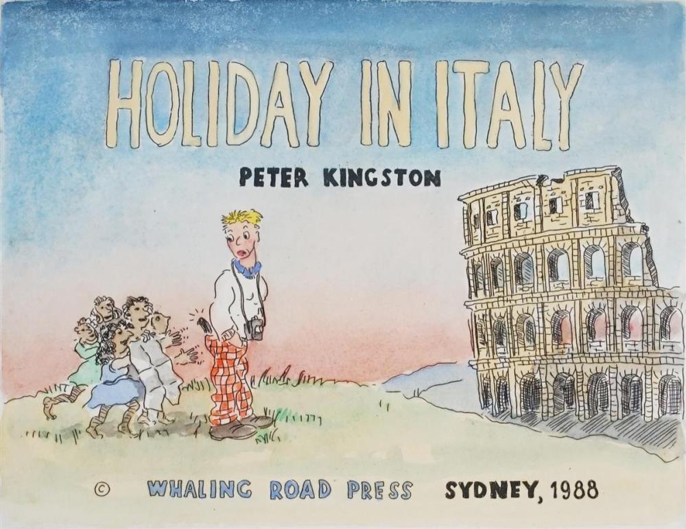 Peter Kingston (1943 - ) - Holiday in Italy, 1988 25 x 20cm