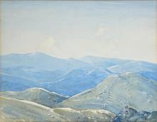 Roy Parkinson (1901 - 1945) - The Lonely Alps 30 x 38cm