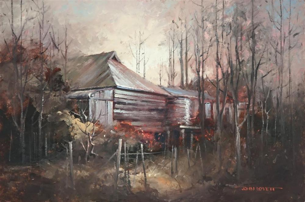 John Lovett (1953 - ) - Untitled (Country Cottage) 30 x 45cm