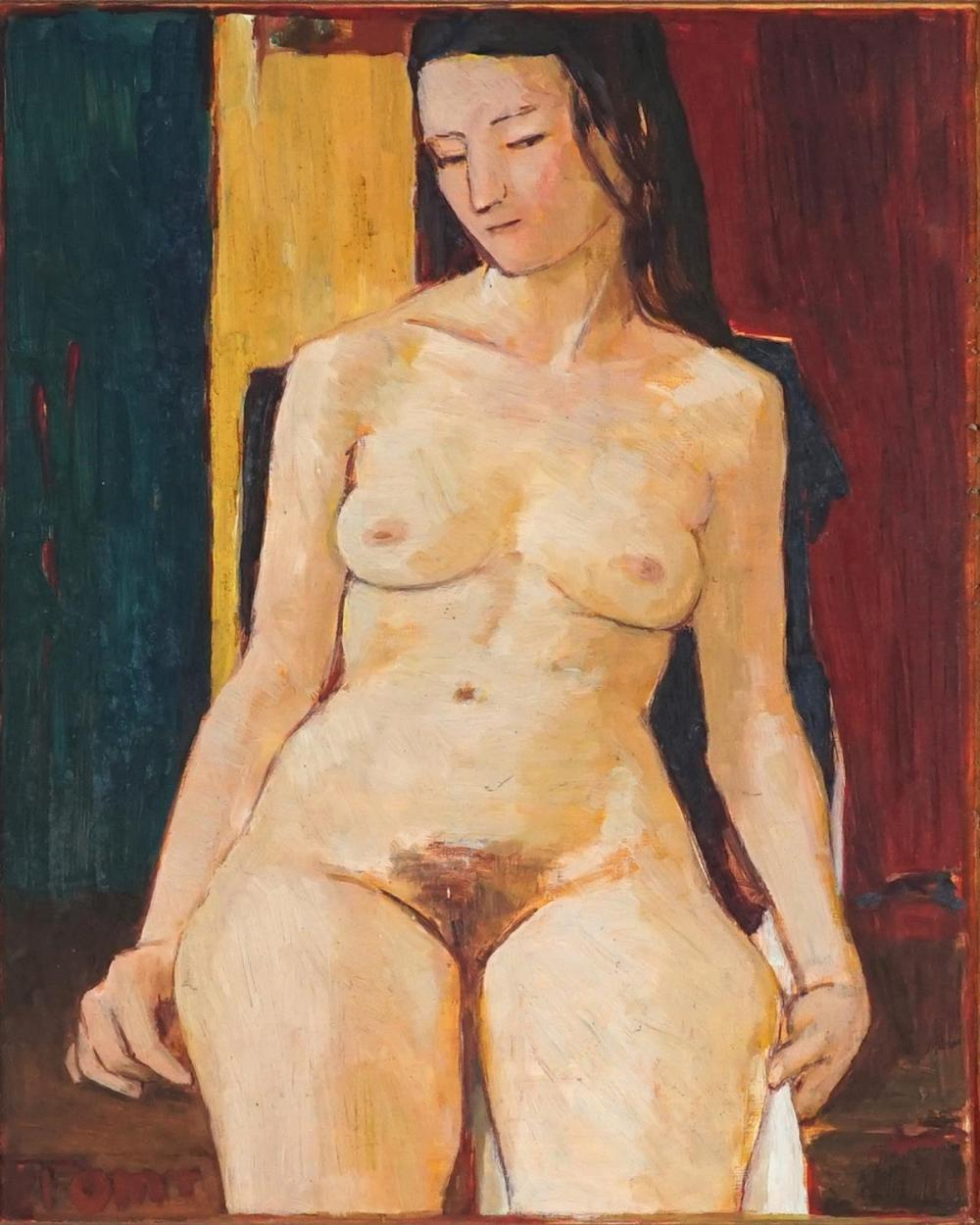 Tom Thompson (1923 - ) - Nude Study 1984 50 x 40.5cm