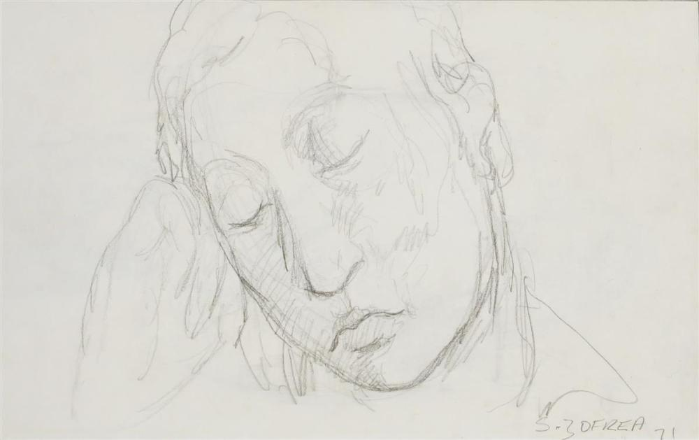 Salvatore Zofrea (1946 - ) - Sleeping Head, 1971 32 x 22cm