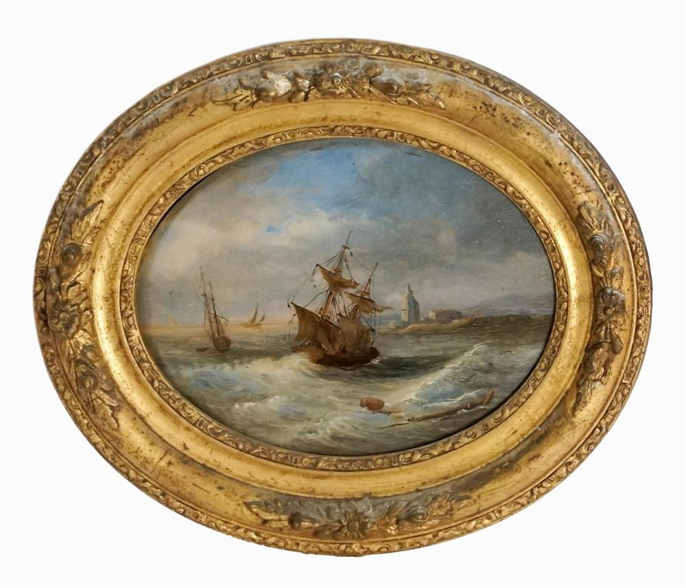 Artist Unknown (C18th) - Maritime Scene 15.5 x 20.5cm