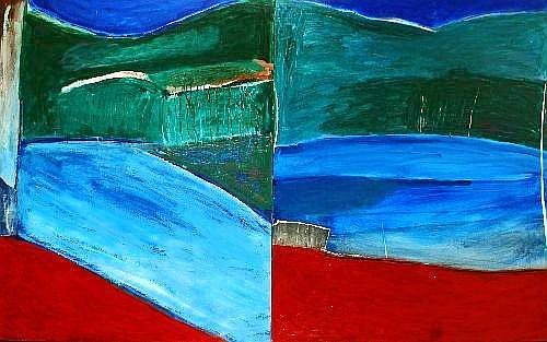 IDRIS MURPHY (1949 - ) - Two Views Durra Lakes 142 x 243 cm