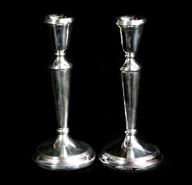 HMS Silver Pair of Candlesticks