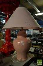 Pink Italian Ginger Jar Shape Table Lamp (2800PK)