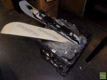 Box of Down Lights and 2 Small Skis
