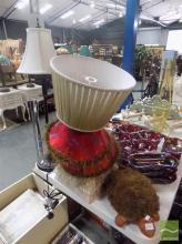 1 Lamp Base, 5 Lamp Shades & a Turtle Foot Brush