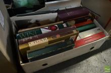 Box of Wine Books & Catalogues & Vintage Lawsons Catalogues
