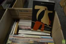 Box of Auction Catalogues, mostly art