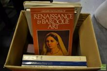 Box of Reference Books, mostly art