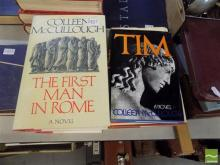 7 Volumes signed & Inscribed by Colleen McCullough incl.