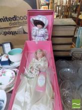 Two Lady Di Wedding Dolls plus Child Doll