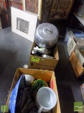 3 Boxes of Kitchenwares incl Pasta Machine, Dinnerwares, Dishes etc
