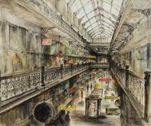 Essie Nangle (1915 - 2006) - The Grand Arcade, Sydney 49.5 x 59.5cm