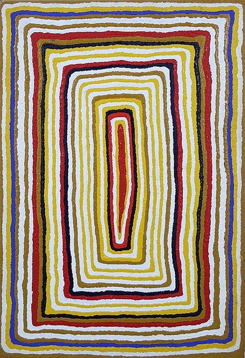 Sam Tjampitjin (1930 - ) - Untitled 75 x 50cm