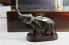 Cast Bronze Figure of an Elephant
