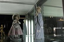 Nao Figure of a Girl Praying & Another of a Girl with Flowers