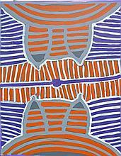 Ada Bird Petyarre (c.1930) - Awelye Dreaming 53 x 43cm (ready to hang)