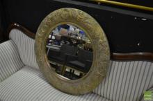 Round Gilt Mirror w Angles