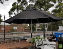 Black Shade Outdoor Umbrella