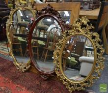 Collection of 3 Ornate Framed Mirrors