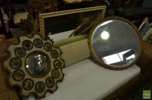 Collection of 4 Timber Framed Mirrors