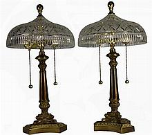 Waterford Crystal Pair of Bedside Lamps