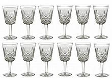 Waterford Crystal Lismore Set of Twelve Wine Goblets