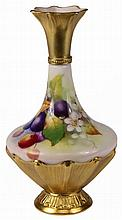 Royal Worcester Fruit Painted Vase by Kitty Blake