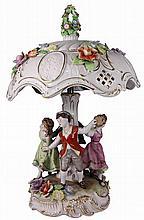 Dresden Figural Lamp