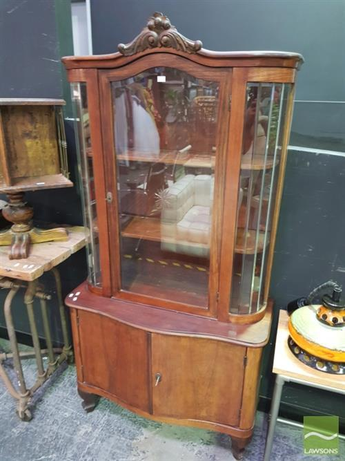 Glass Front Display Cabinet With Cupboard Below