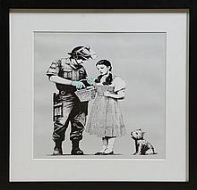 Banksy - Wizard of Oz, print after the original, 59 x 59cm