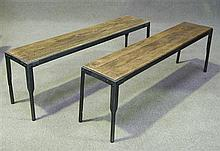 Pair of Workmen's benches