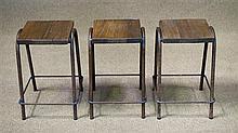 Three Sailmaker's stacking stools