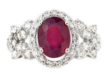 2.62ct. Oval Shape Ruby Ring 18K