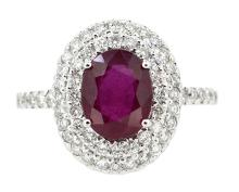 2.42ct. Oval Ruby Ring 18K
