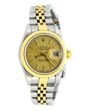 Rolex-Datejust- Ladies 18K and Stainless Steel  Apprisal Certifacate $8,700