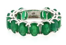 9.22ct.tw Oval Emeralds Ring 18K Apprisal Certifacate $19,000
