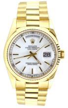 Watch Rolex President Day-Date 18K Apprisal Certifacate $31,350