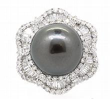 15mm Center Tahitian Pearl 18K