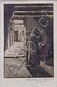 GEOFFREY GARNIER Washerwoman in a cottage. Black, Geoffrey Sneyd Garnier, Click for value