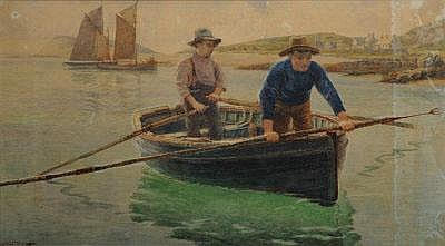 GEORGE BROOKS PERCY LILLINGSTON Spearing for flat