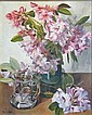 GWEN WHICKER Rhododendron. Oil on board. Signed,