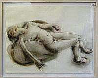 JESSE LEROY SMITH Life drawing. Watercolour on
