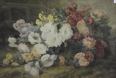 SOPHIA HOLMES Still life of chrysanthemums