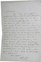 Alfred DE MUSSET (1810-1857).La lettre autographe