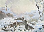 Joseph Paul MESLÉ (1855 - 1929) Paysage de neige