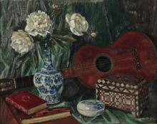 A. Bienfait / French 19th/20th Century / Still Life with Guitar
